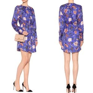 🆕 $400 DVF Printed Silk Twill Mini Dress Blue 2
